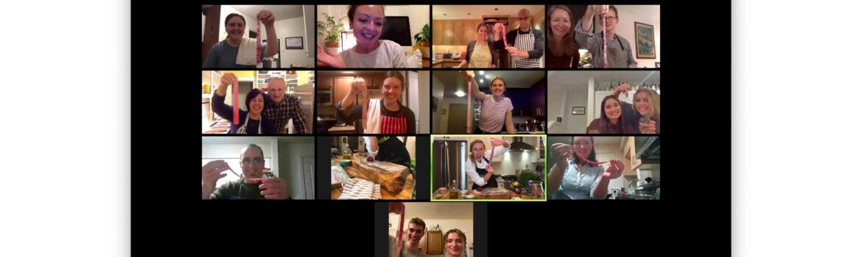 culinary artistas pasta zoom class celebration