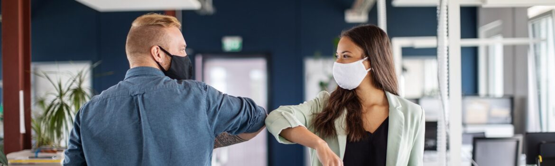 returning to office work COVID safety protocols communication